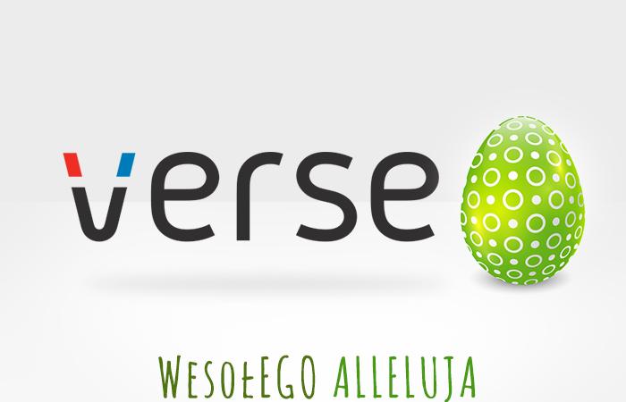 Radosnych Świąt Wielkanocnych życzy Verseo!