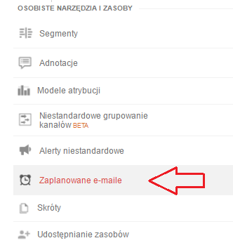 zaplanowane e-maile
