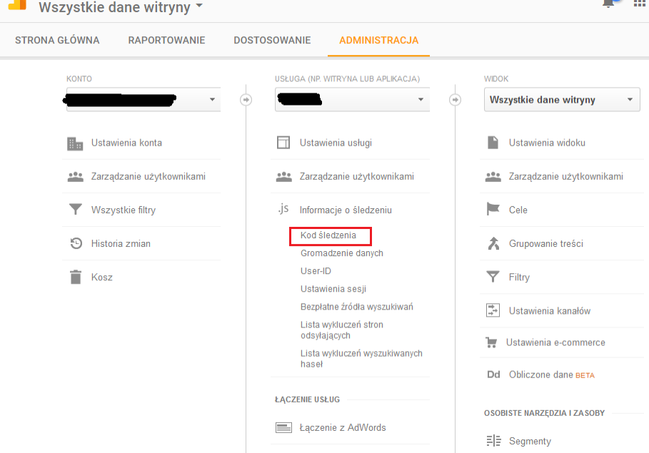 google analytics wordpress kod śledzenia