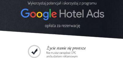 Google Hotel Ads- opłata za rezerwacje