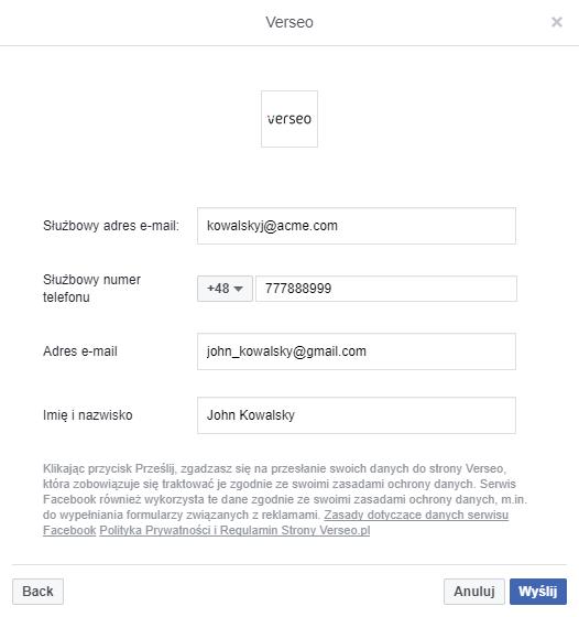 generowanie leadów via facebook