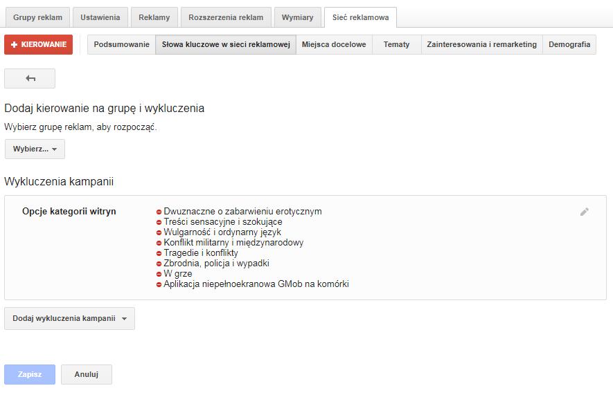optymalizacja google adwords