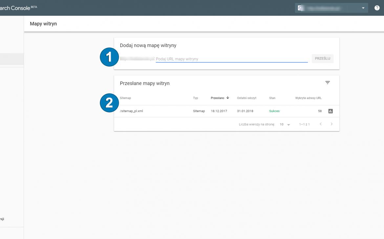 nowa wersja google search console
