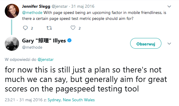 Twitter post Gary Illyes