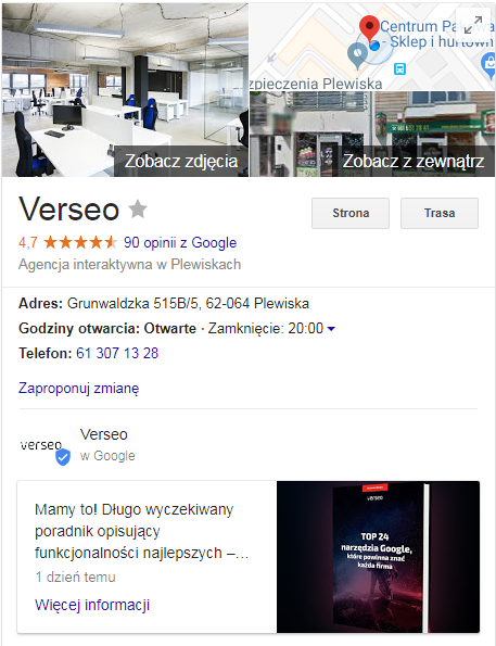 marketing internetowy google moja firma