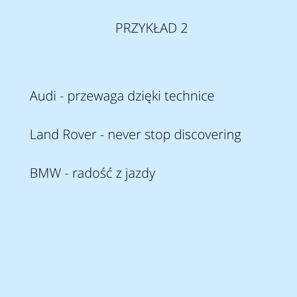 język wartości motoryzacja